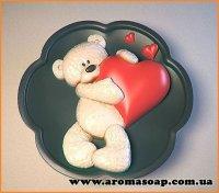 Ведмедик з сердечком №2 еліт-форма