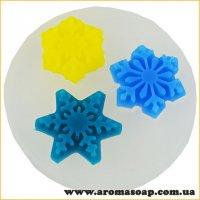 Молд 138 Три сніжинки