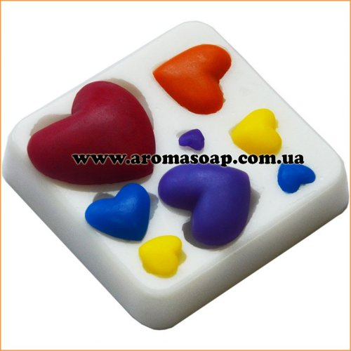 Молд 040 Сердечки 2
