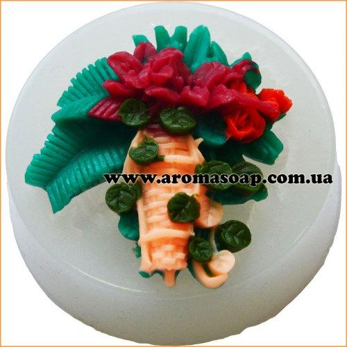 Молд 047 Корзинка с цветами