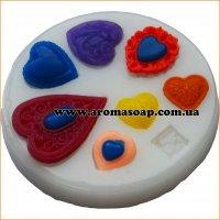 Молд 051 Сердечки кружевные