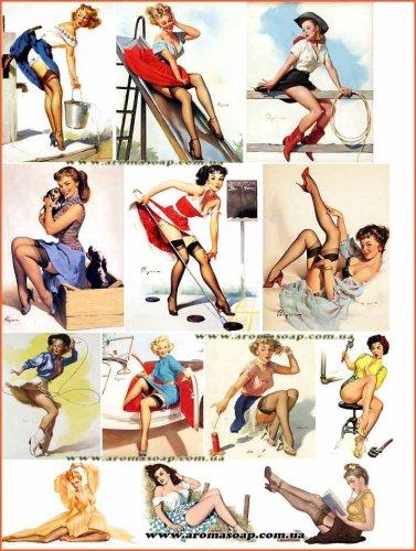 "Набір картинок ""Дівчата Pin-Up"" №01"