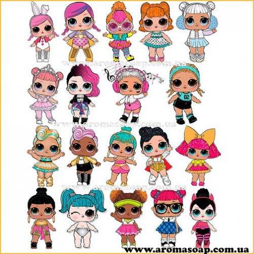 Набор картинок Куклы Лол 02