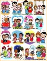 """Набор картинок """"Love is"""""""