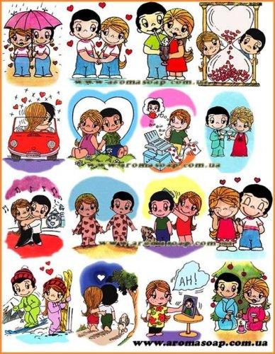 Набор картинок Love is