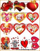 Набір картинок Серця
