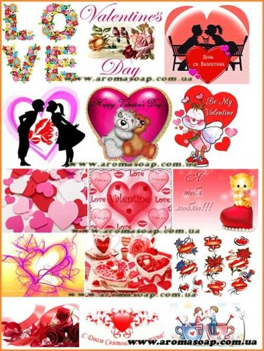 Набір картинок Валентинки