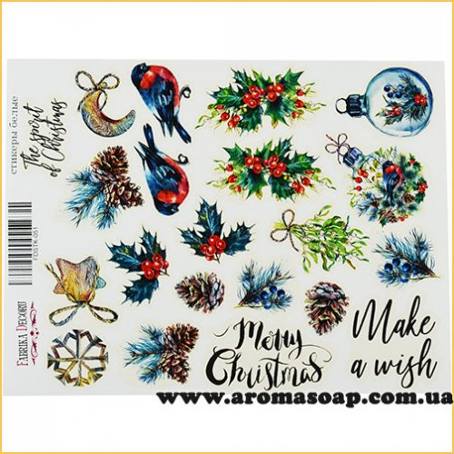 Набор наклеек (стикеров) 051 The spirit of christmas
