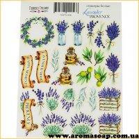 Набор наклеек (стикеров) 056 Lavender Provence