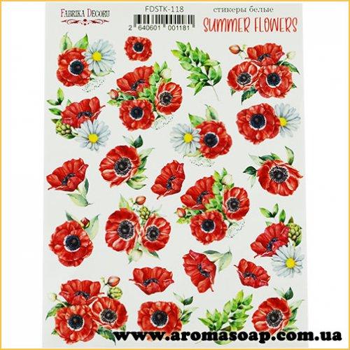 Набір наклейок (стікерів) 118 Summer flowers