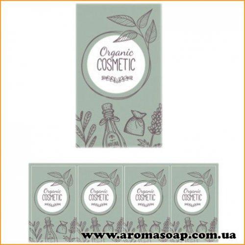 Наклейки №013 4шт Organic cosmetic