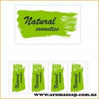 Наклейки №019 4шт Natural cosmetics