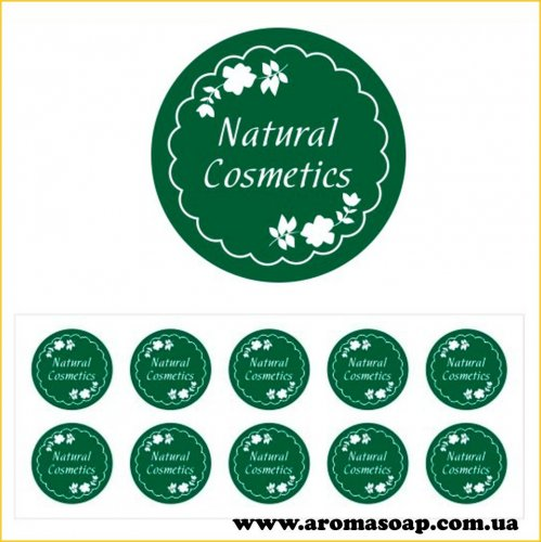 Наклейки №002 10шт Natural Cosmetics