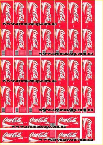 "Наклейки на мыло ""Бутылка Coca-Cola"""