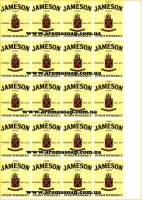 "Наклейки на мыло ""Бутылка виски Jameson"""