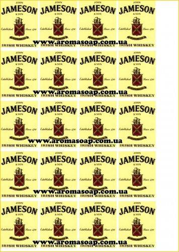 Наклейки на мило Пляшка віскі Jameson
