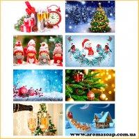 Набор картинок Новогодние мотивы под форму прямоугольник