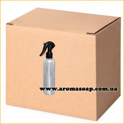 Бутылочка круглая 150 мл + Триггер черный (распылитель) ОПТ 460 шт