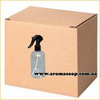 Бутылочка круглая 500 мл + Триггер черный (распылитель) ОПТ 220шт