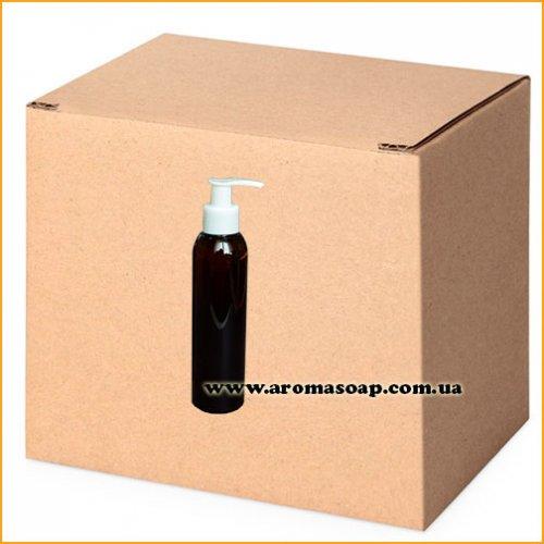 Бутылочка круглая темная 150 мл + Дозатор ОПТ 460шт