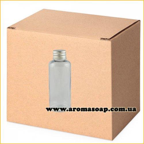 Бутылочка круглая 100 мл + Алюминиевая крышка ОПТ 500 шт