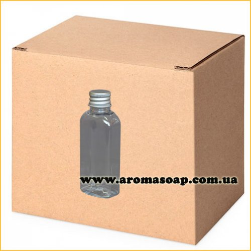 Бутылочка плоская 50 мл + Алюминиевая крышка ОПТ 1000 шт