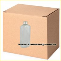 Бутылочка плоская 100 мл + Алюминиевая крышка ОПТ 500 шт