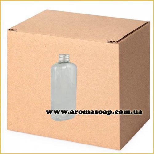Пляшка плоска 100мл + Алюмінієва кришка ГУРТ 500шт