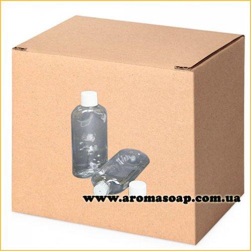 Бутылочка плоская 100 мл + Колпачок со вставкой ОПТ 500шт