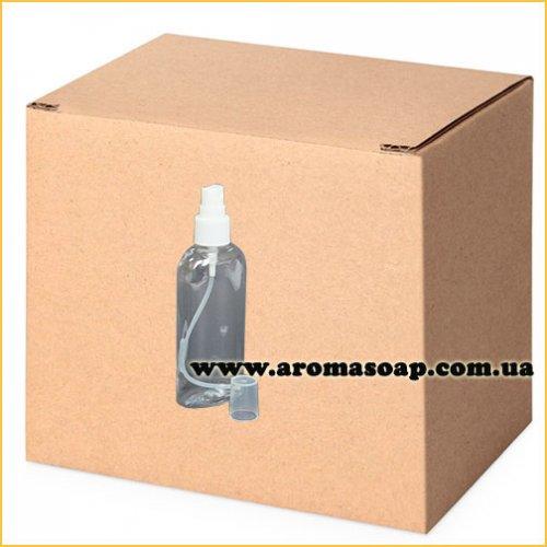 Бутылочка плоская 100 мл + Пульверизатор ОПТ 500шт