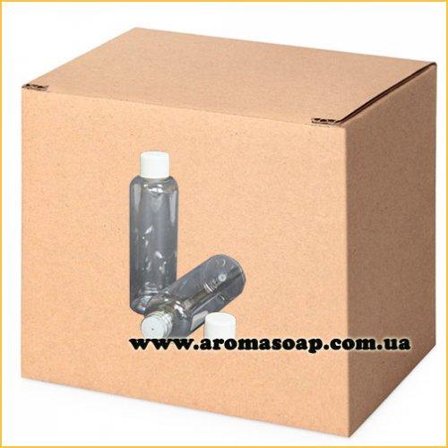 Бутылочка круглая 100 мл + Колпачок со вставкой ОПТ 500 шт