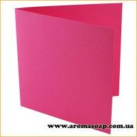 Заготівля для листівки рожева 155х155мм