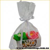 Пакетик подарунковий з білим вкладишем і стрічкою 1шт