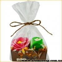 Пакетик подарунковий з крафтовим вкладишем і мотузкою 1шт