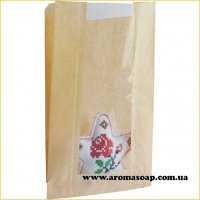 Пакетик бумажный Саше с окошком большой