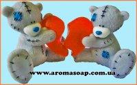 Парочка Тедді з серцем 3D еліт-форма