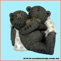 Парочка Теддіков на подушках 3D еліт-форма
