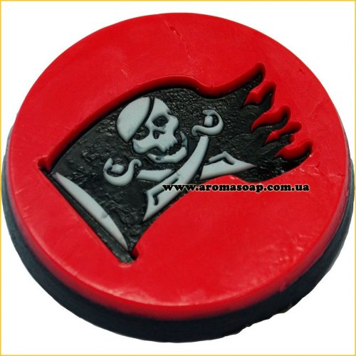 Пиратский флаг штамп (силикон)