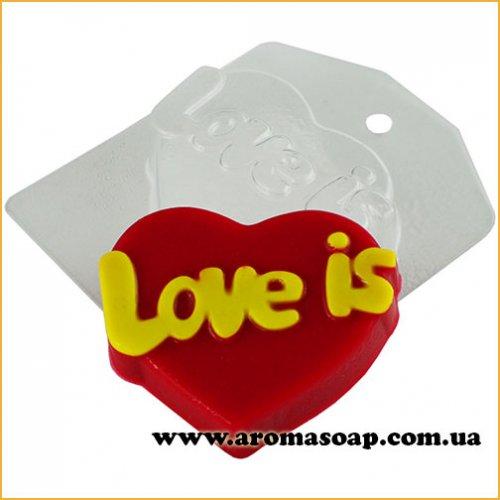 Сердечко Love is 83 г (пластик)