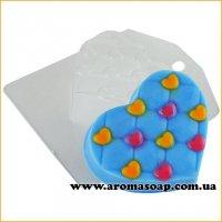 Сердечко ромб в сердечко 99 г (пластик)