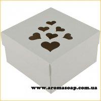 Коробка премиум Love с сердцами