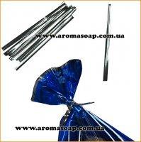 Проволочные завязки Twist Tie серебро 50 шт