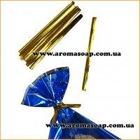 Проволочные завязки Twist Tie золотые 50шт