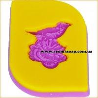 Птичка на цветке штамп (силикон)