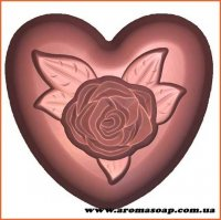 Роза на сердце 125 г (пластик Англия)
