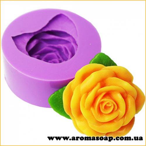 Роза Фрезия с листиком 3D элит-форма