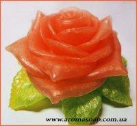 Роза с листиком 3D элит-форма