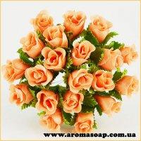 Бутоны Розочек декоративные оранжевые 20 шт
