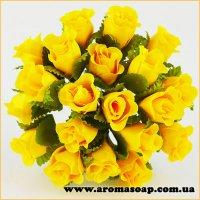 Бутони троянд декоративні жовті 20 шт