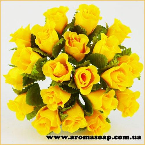 Бутоны Розочек декоративные желтые 20 шт